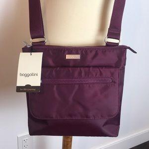 Baggallini Purple Travel Crossbody NWT